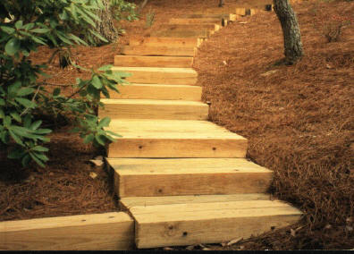 Level Green Landscaping - timber stairs